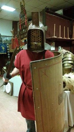 We got to try on different armor , Rip C - April 2013