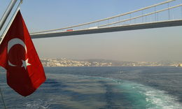 This is the view on our return in the cruise, with a stunning view of the city and the beautiful waters of the Bosphorus. , Marisa M A - December 2015