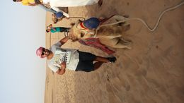 Gary and his camel in dubai! , KaiLee P - May 2015
