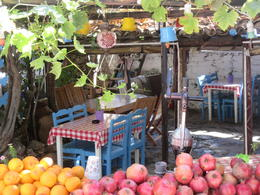 Fresh fruit, tea, lovely food and lovely people everywhere throughout this historic Greek enclave (plus lots of souvenirs at good prices). , DIANA S - October 2014