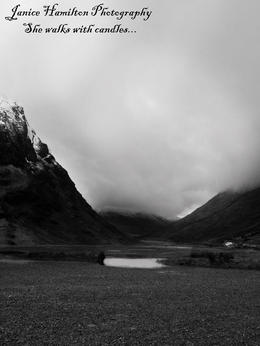 My first photo of Glencoe before we headed on our way to Loch Ness. , Janice H - March 2014