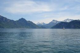 Taken from the ferry on a beautiful day in May. The mountains are always covered in snow!, World Traveler - September 2010
