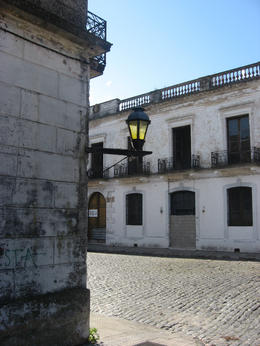 Typical lamp post in the historic part of Colonia., Bandit - June 2012