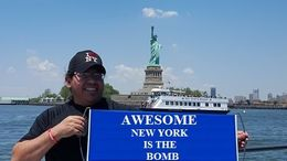 Hector Yado from South Texas enjoy an Awesome lunch boat trip to the Statue of Liberty. , hectory33 - July 2016