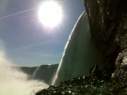 taken on my mobile phone from behind the falls.... , Gail J - November 2012