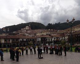 Band playing at the plaza , jay - May 2013