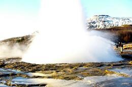 Strokkur i utbrudd. Like ved Geysir. , Jostein S - January 2014