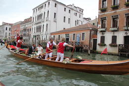 While on our Canal Tour, we saw a bride and groom in a gondola - so cool! Congratulations and best wishes to the obviously happy couple! , Michael W - August 2014