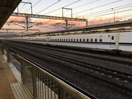 Shinkansen bullet train at Odawara station , Marius G - February 2017