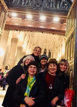 St. Patrick's Cathedral with Creative Journal Expressive Arts friends , Marsha Nelson,Ph.D. - December 2017