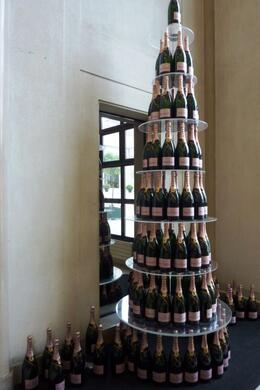 A Rose Moet and Chandon Tower in the foyer of the Cellar Door , nag33m - June 2012