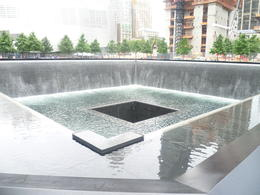 one of the water features at the world trade centre site , kev - June 2012