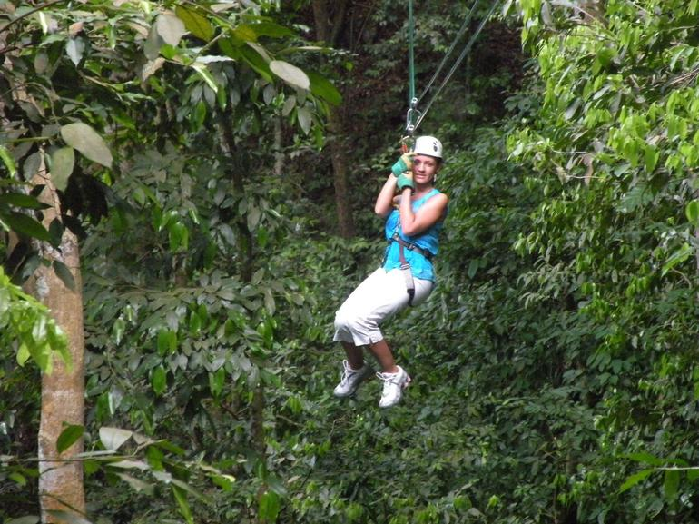 Ziplining through the rainforest canopy outside Ocho Rios - Ocho Rios