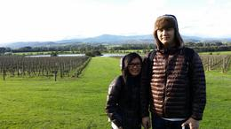 Outside in the vineyard at Chandon , josdp - August 2014