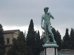 """This is the bronze copy of Michelangelo's """"David"""" that is located in the hills above Florence at the Piazzale Michelangelo. Not as impressive as the original, but still worth seeing., Joanne M - October 2008"""