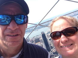 Lara and Jody Rosato at the top of the Empire State Building. , Lara G. R - July 2014