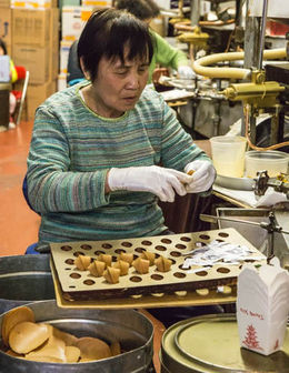 The original, tiny, factory where thousand of cookies are hand-made. , Anne G - September 2015
