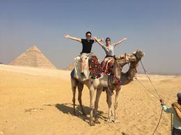 Giza Pyramids on a camel , Nicholas M - October 2016