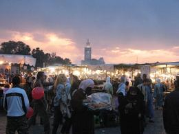 Night market at Djemaa El Fna. Went back for the night market after the main daytime Marrakech tour. - February 2010