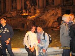 mon épouse et moi même devant la fontaine , Marie France M - April 2014