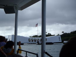 On the boat heading towards the Arizona Memorial. , Andrea S - January 2013
