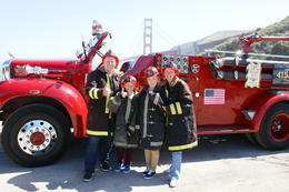 Family photo in front of the Golden Gate Bridge , James M - August 2012