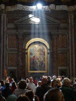 Celestial light shafts in St Peter's , Andrew F - December 2016