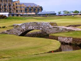 A famous footbridge on the 18th fairway. , Bruce - June 2011