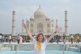 Mari Eli em visita ao Taj Mahal. , MARI E L D - August 2015