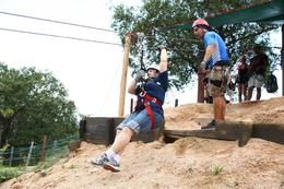 The first zip line!, Kevin G - July 2010