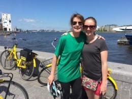 With Brynn Caplan on the small group Amsterdam bike tour , Randi C - June 2017