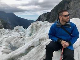 SP hanging out on a glacier , UpieNguyen . - December 2017