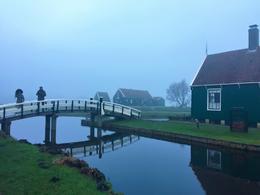 random shot on a foggy friday morning in Zaanse Schans , Leilani - January 2018