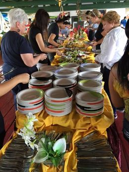 We're ready to enjoy our buffet lunch, included with the tour cost , bri - May 2015