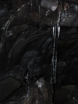 Walking in the lava cave - one of the many sights , Travel Queen - April 2014