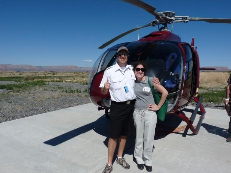 Kelly and our pilot - Grand Canyon National Park