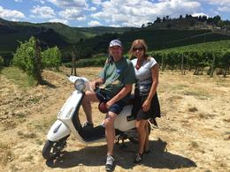 Taking a break with our trusty wheeled stead ! , Doug Couturier - October 2016