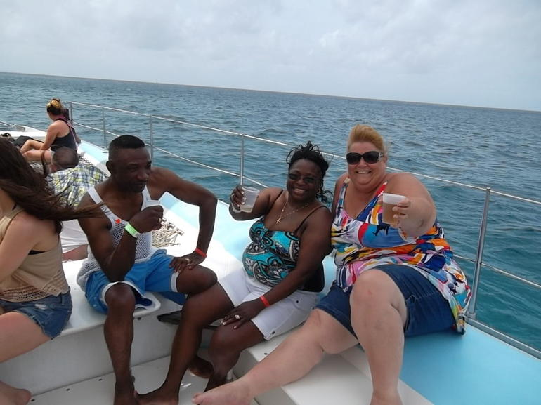 on the ride over to Saona Island - Punta Cana