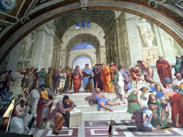 Raphael's amazing fresco in the pope's Signing Room. , bstott - July 2015