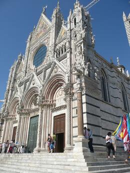 Outside of the beautiful Siena Cathedral, DAVID L - October 2009