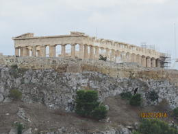 Our first view of the Acropolis and the Parthenon , Nancy G - December 2014