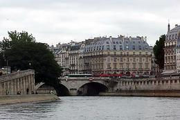 This was a shot taken from the Seine River cruise boat of buildings lining the shore of the river. , Leslie S - July 2013