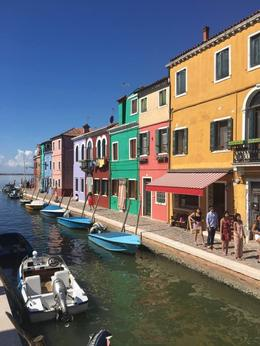 the typical sight - many colourful, clean village/island , Rhonda B - August 2017