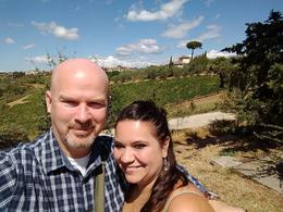 My wife and I at the first vineyard. , Christopher C - September 2017