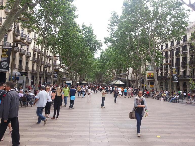 Affluence sur le Rambla - Barcelona