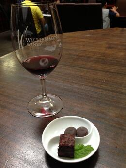 The most interesting pairing experiment, we tried the Merlot with brownie and then brownie with the fresh mint. I'd never nibbled fresh mint before but it really completed the taste!, Trina Tron - January 2014