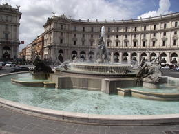 One of the beautiful fountains of Rome, photo was taken from the top of the open top bus on a beautiful sunny day , My daughter and I spent over two and a half hours riding through the city. , derrick t - September 2013