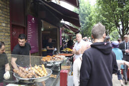 We walked through vibrant Borough Market., sarahm - July 2013