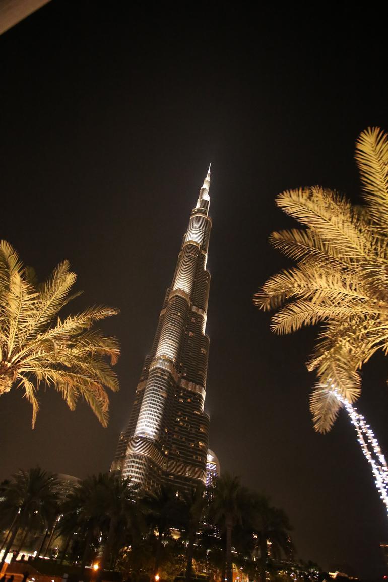Burj Khalifa bei Nacht - Dubai