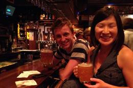 Enjoying a beer at Cheers, Jules & Brock - July 2012
